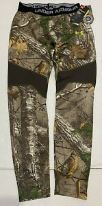 UNDER ARMOUR MEN'S MED COLDGEAR INFRARED FITTED CAMO LEGGINGS NWT