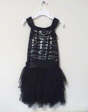 NEW Biscotti Girl's Special Occasion Sequin Accented top Boutique Dress Black 12