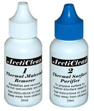 ArctiClean 60ml Kit 1 & 2 Thermal Grease Paste Compound Remover and Purifier