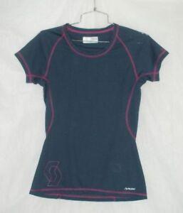 Scott Bicycles Woman's Grey/Purple Polartec Short Sleeve Athletic Shirt US Size