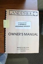 Landpride Fd1548 1560 Finish Mower Operators And Parts Manual