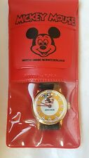 Vintage mystery dial Mickey Mouse Jogger character watch Bradley Disney MIP