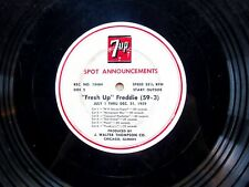 7 Up RADIO COMMERCIALS LP transcription disc (1959) Fresh Up Freddie, Beguine
