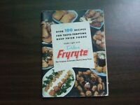 Vtg Dulane Fryryte Deep Fryer Recipes Booklet Instructions Cook Book Manual