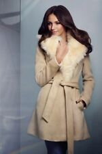 d77bee79a7 LIPSY BY MICHELLE KEEGAN FAUX FUR CAMEL PRINCESS COAT - UK SIZE 16.