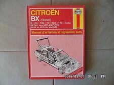 RTA HAYNES CITROEN BX diesel 1983 à 1992   G12