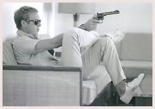 """Reproduction Steve McQueen Poster, """"Black & White"""", Home Wall Art, Size: A2"""