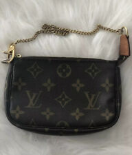 Authentic Louis Vuitton Mini Pochette Accessories Monogram Bag