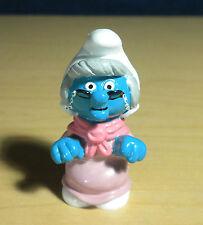 Smurfs 20408 Nanny Smurf Grandma Rare Vintage Figure PVC Toy Figurine Applause