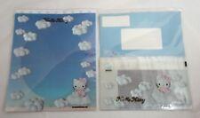 Sanrio 1998 Hello Kitty Blue Angel Stationary Kit Writing Paper Envelopes Rare