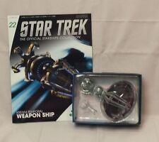 #22 Star Trek Krenim Weapon Ship DieCast Metal Ship-Uk/Eaglemoss w Mag-Free S&H