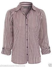 T-shirts, hauts et chemises manches longues à motif Carreaux pour fille de 2 à 16 ans