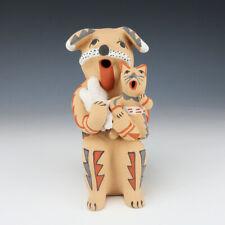 NATIVE AMERICAN JEMEZ POTTERY DOG STORYTELLER BY EMILY FRAGUA TSOSIE