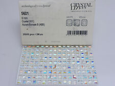 24 Pcs. Swarovski® Crystal Square Beads,Art. #5601 6mm,Aurora Borealis, Ab Cubes