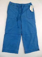 Jones Wear Sport women's capri/cropped pants size M lagoon blue 32x22 mid-rise