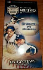 NY Yankees Legacy of Greatness DVD Collection (10 DVD'S ) w Folder