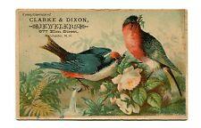 Victorian Trade Card CLARK & DIXON JEWELERS  Manchester NH watch repair silver