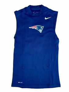 New England Patriots Team Issued NFL Nike Dri Fit Tank Top Shirt Men's Large New