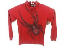 Spyder Youth Sz 16 Long Sleeve 1/4 Zip Pullover Shirt Red Boys Girls Kids Cotton