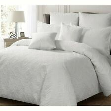 NEW Georges Ashton White Queen Size Quilt / Doona Cover Set Lightly Quilted