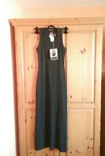 BNWT JEAN PAUL GAULTIER, GAULTIER JEANS BLACK MAXI DRESS SIZE 38,M UK 8