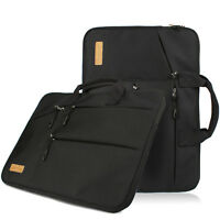 Universal Fabric Sleeve Case Cover Laptop Briefcase Bag Compatible MacBook Black