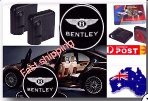 2 Pc Wireless Magnetic Car Door Logo Light Shadow Welcome Projector  For BENTLEY