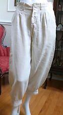 1910-20`s Irish Linen Man`s Off White Knickers Gatsby Golf Trousers S