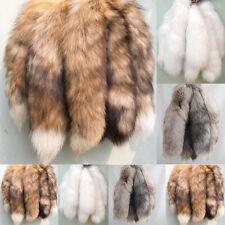 Animal Large Luxury Fox Tail Fur Keychain Tassel Bag Tag Charm Keyring 3 Colors