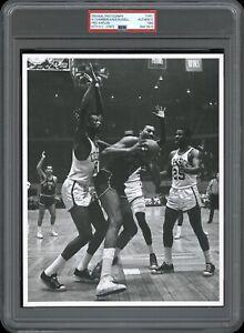 Wilt Chamberlain vs. Bill Russell 1964 NBA Type 1 Original Photo PSA/DNA