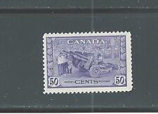 CANADA KING GEORGE VI WAR ISSUE 50 CENTS MUNITIONS FACTORY # 261  NH  SALE
