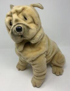"Avanti Applause Jockline 1987 Shar-Pei 14"" Plush Stuffed Animal Wrinkly Tan Dog"