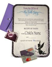 Personalized Letter Certificate from Tooth Fairy with fairy dust, sticker & more
