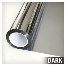 One Way Mirror Window Film Tint Static Home House Privacy Anti UV Solar Dark Kit