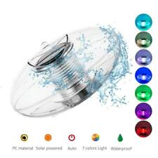 Solar LED Floating Lights Garden Pond Pool Lamp Rotating Color Changed Outdoor