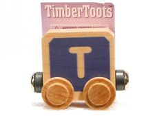 Timber Toots Name Trains Wooden Railway System Alphabet Preschool Toys Letter T