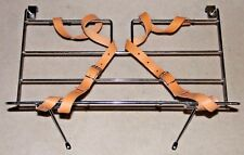 CLASSIC FIAT 500 LUGGAGE RACK HAMPER BASKET WITH STRAPS POLISHED CHROME NEW