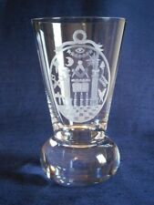 TRADITIONAL MASONIC FIRING GLASS ENGRAVED WITH A THOMAS HARPER JEWEL