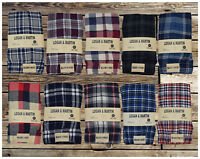 LOGAN & MARTIN MEN'S 100% Cotton FLANNEL BOXERS IN 10 COLORS/STYLES SIZES 40-46
