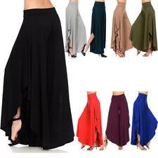 Fashion Woman Waist High Wide Legings Cropped Irregular Palazzo Pants