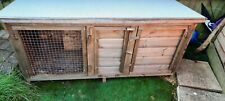 Large rabbit hutch used. Bought last year, excellent condition. 150cmx65cmx61cm