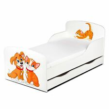 PRICE RIGHT HOME CAT AND DOG TODDLER BED WITH UNDERBED STORAGE WHITE FREE P+P