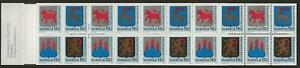 """Sweden 1982 - Very Fine Booklet - """"Privatpost"""" - Mint Never Hinged"""