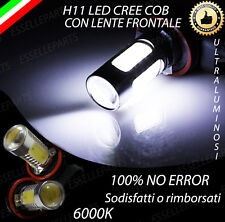 COPPIA LAMPADE FENDINEBBIA H11 LED BIANCO CREE COB CANBUS 6000K ULTRALUMINOSI