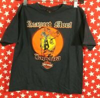 VTG Harley Davidson Hog Jamaica Motorcycle T Shirt Kids 10-12 A013