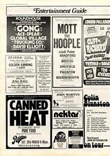 Mott The Hoople Judi Pulver Colson Hall, Bristol MM4 Tour Advert 1974