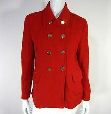 ZARA WOMAN Long Sleeve Jacket Blazer Size M Medium Solid Red 236