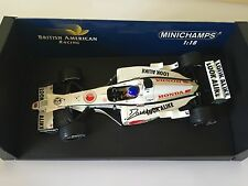 Jacques Villeneuve Hand Signed BAR Honda 2003 Minichamps 1:18 Diecast Model.