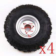 4Pcs 145/70-6 Front Rear Tubeless Rim Tires 70 90 110cc Taotao Quad ATV Go-Kart
