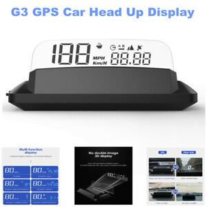 G3 GPS Car Head Up Display Speed HUD with Reflection Screen Dual-Mode Chip USB